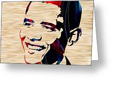 Barack Obama Greeting Card by Marvin Blaine