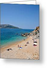 Beach In Legrena Greeting Card