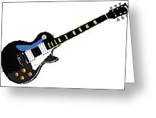 8 Bit Gibson Les Paul Greeting Card