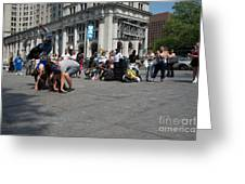 Breakdancers Greeting Card
