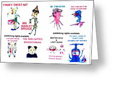 8 Super Hero,  Characters Of 35 From Wheatshire Greeting Card