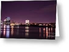 City Lights Skyline Greeting Card