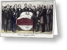 Death Of Lincoln, 1865 Greeting Card