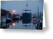 Early Morning In Portland, Maine Greeting Card