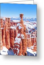 Eroded Rocks In A Canyon, Bryce Canyon Greeting Card