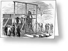 Execution Of Conspirators Greeting Card
