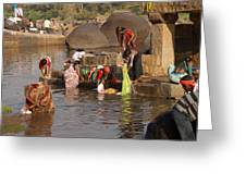 Hampi Ghats Greeting Card