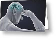 Head Pain Greeting Card