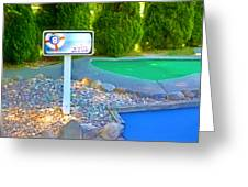 8 Hole Sign On  Golf Course Greeting Card