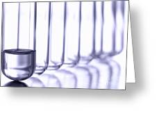 Laboratory Test Tubes In Science Research Lab Greeting Card
