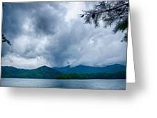 Lake Santeetlah In Great Smoky Mountains North Carolina Greeting Card