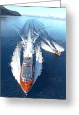 Lake Tahoe Wooden Boats Greeting Card