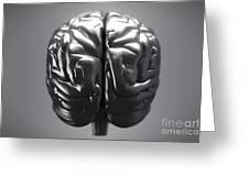 Metallic Brain Greeting Card