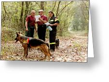 Mountain Rescue Workers Greeting Card