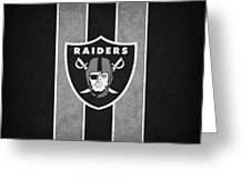 Oakland Raiders Greeting Card