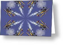 8 Planes Greeting Card