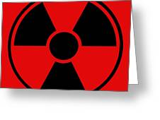 Radiation Warning Sign Greeting Card