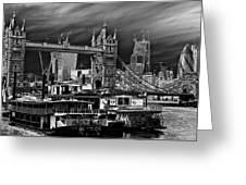 River Thames Art Greeting Card