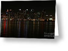 San Diego Skyline Night Greeting Card