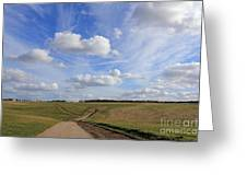 Spring Sunshine On Epsom Downs Surrey Greeting Card