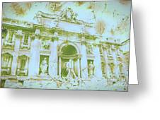 Trevi Fountain Landscape Greeting Card