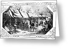 Valley Forge, Winter 1777 Greeting Card