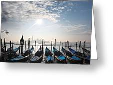 Venice With Gondolas Greeting Card