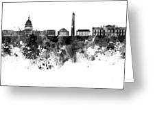 Washington Dc Skyline In Watercolor On White Background Greeting Card