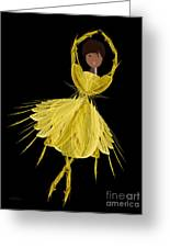 8 Yellow Ballerina Greeting Card