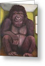 800 Pound Gorilla In The Room Edit 4 Greeting Card