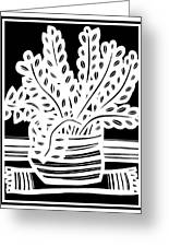 Schwiebert Plant Leaves Black And White Greeting Card