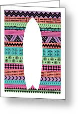 80s Fish Surfboard Greeting Card