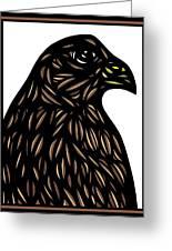 Labore Eagle Hawk Brown White Greeting Card
