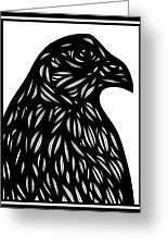 Bruh Eagle Hawk Black And White Greeting Card