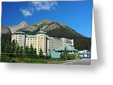816p Chateau Lake Louise Canada Greeting Card