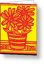 Famished Flowers Black And White Greeting Card