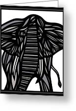 Batra Elephant Grey Black White Greeting Card