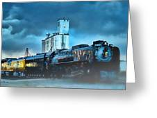 844 Night Train Greeting Card