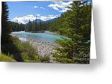 853p Bow River Canada Greeting Card