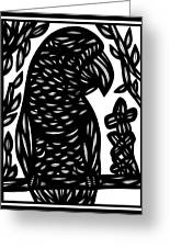 Tumminia Parrot Black And White Greeting Card