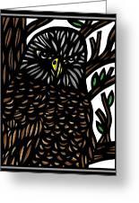 Mitzner Eagle Hawk Green Black Brown Greeting Card