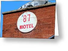 87 Motel Greeting Card