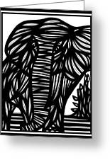 Cubr Elephant Black And White Greeting Card