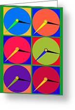 879 - Three Thirty - Eight Pop Clocks Greeting Card