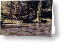 894 Sl A River Runs By Greeting Card