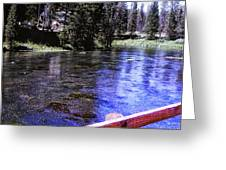 896 Sl Crossing The River Greeting Card