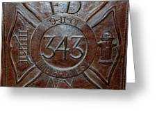 9 11 01 F D N Y 343 Greeting Card