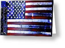 9-11 Flag Greeting Card