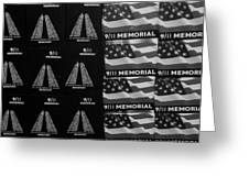 9/11 Memorial For Sale In Black And White Greeting Card