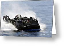 A Landing Craft Air Cushion Transits Greeting Card